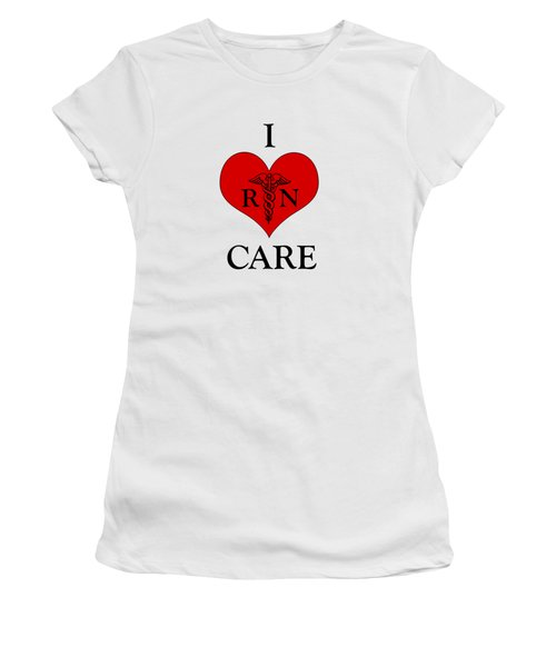 Nursing I Care -  Red Women's T-Shirt (Junior Cut) by Mark Kiver