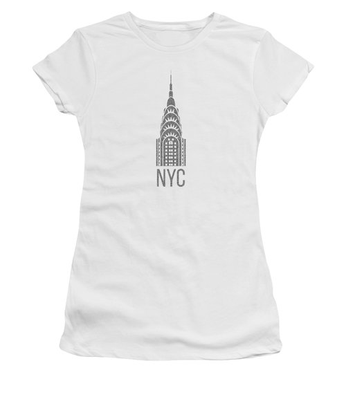 Women's T-Shirt (Junior Cut) featuring the drawing Nyc New York City Graphic by Edward Fielding