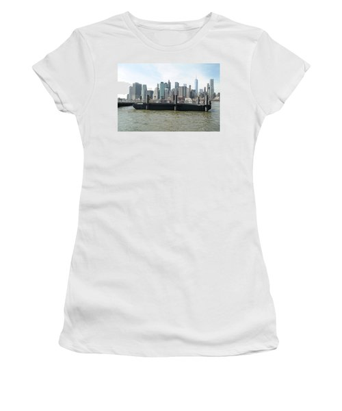 Nyc Skyline Women's T-Shirt (Junior Cut) by Michael Paszek