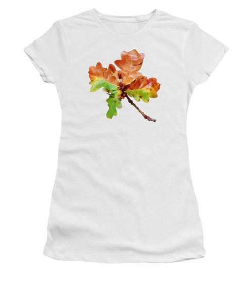 Oak Leaves Autumn Glow Women's T-Shirt