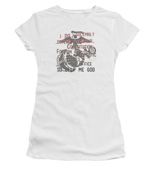 Women's T-Shirt (Athletic Fit) featuring the mixed media Oath by TortureLord Art