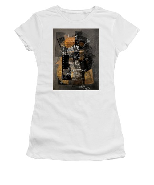 Objects In Space With Ochre Women's T-Shirt (Athletic Fit)