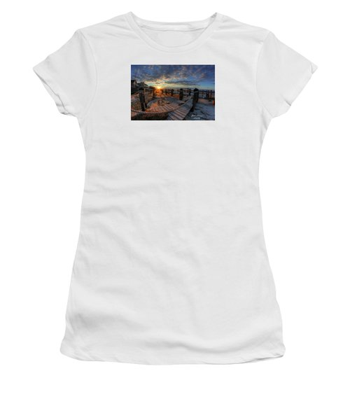 Oc Bay Sunset Women's T-Shirt (Junior Cut) by John Loreaux