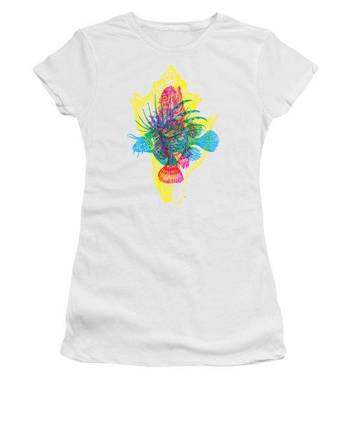 Ocean Creatures Women's T-Shirt (Athletic Fit)