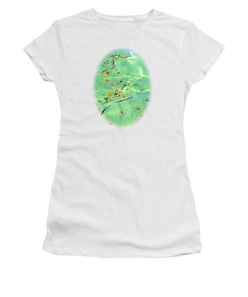 Ocean Flowers Women's T-Shirt (Athletic Fit)