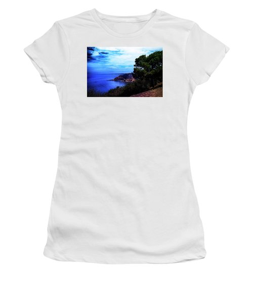 Women's T-Shirt (Junior Cut) featuring the photograph Ocean Hill by Joseph Hollingsworth