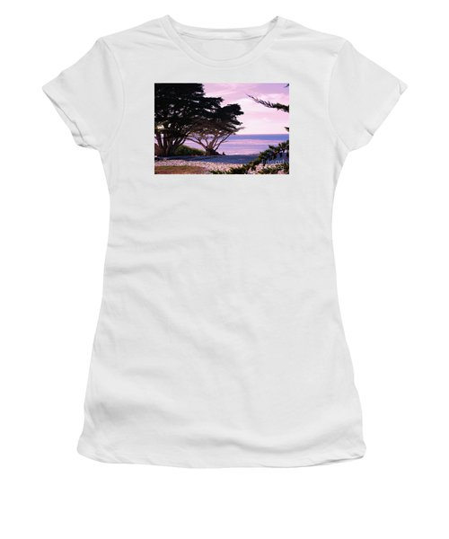 Ocean Views From Carmel Beach  Women's T-Shirt (Athletic Fit)