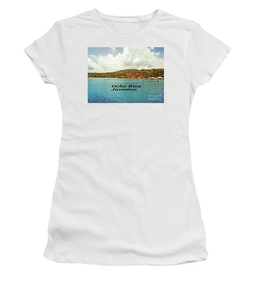 Ocho Rios Jamaica Women's T-Shirt (Junior Cut) by Gary Wonning