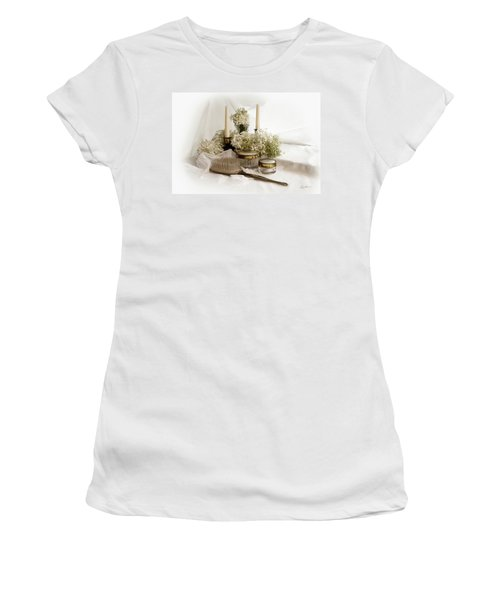 Women's T-Shirt (Junior Cut) featuring the photograph Of Days Past by Ann Lauwers