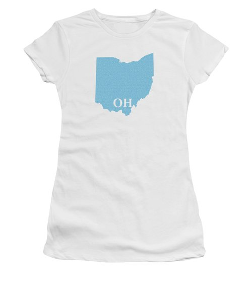 Ohio State Map With Text Of Constitution Women's T-Shirt