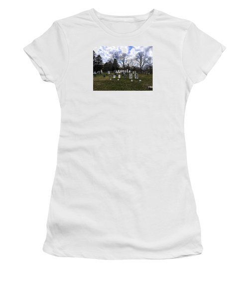 Old Town Cemetery Sandwich, Massachusetts Women's T-Shirt (Athletic Fit)
