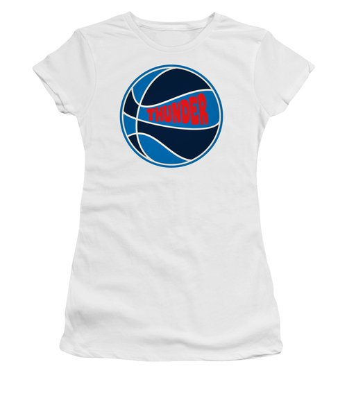 Women's T-Shirt (Junior Cut) featuring the photograph Oklahoma City Thunder Retro Shirt by Joe Hamilton