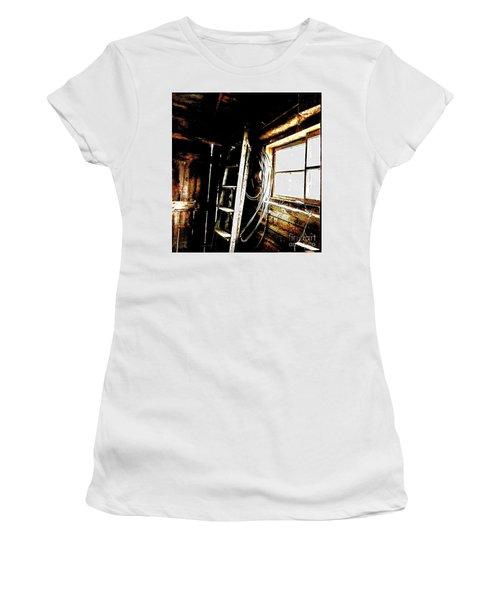 Old Barn Ladder Women's T-Shirt (Junior Cut) by Deborah Nakano