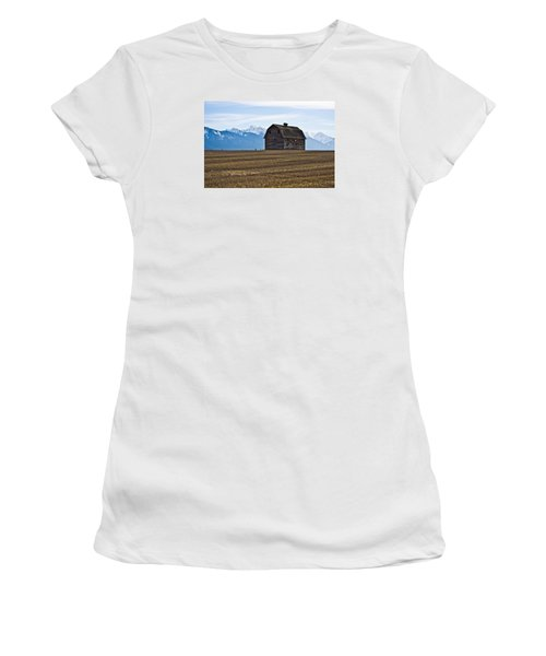 Old Barn, Mission Mountains 2 Women's T-Shirt