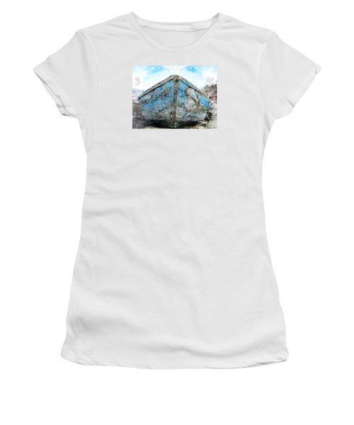Old Blue # 2 Women's T-Shirt (Junior Cut) by Ed Hall