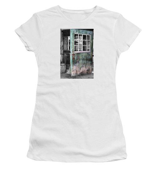Rustic Blue - Green Door  Women's T-Shirt