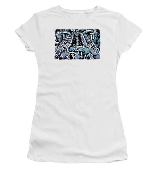 Old Engine Of Locomotive Women's T-Shirt (Athletic Fit)