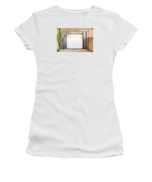 Old Garage Door Women's T-Shirt (Athletic Fit)
