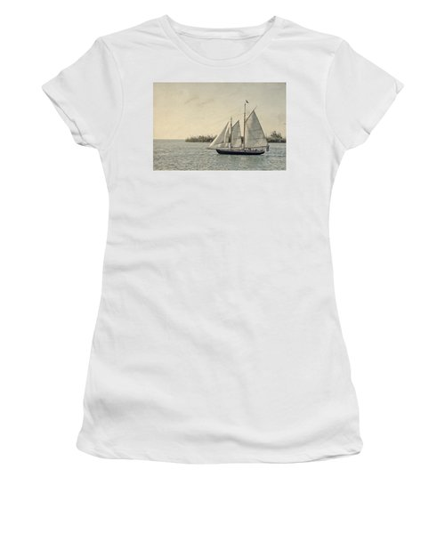 Old Key West Sailing Women's T-Shirt (Athletic Fit)