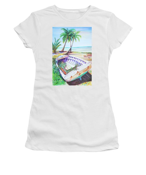 Old Paint Women's T-Shirt (Junior Cut) by Patricia Piffath
