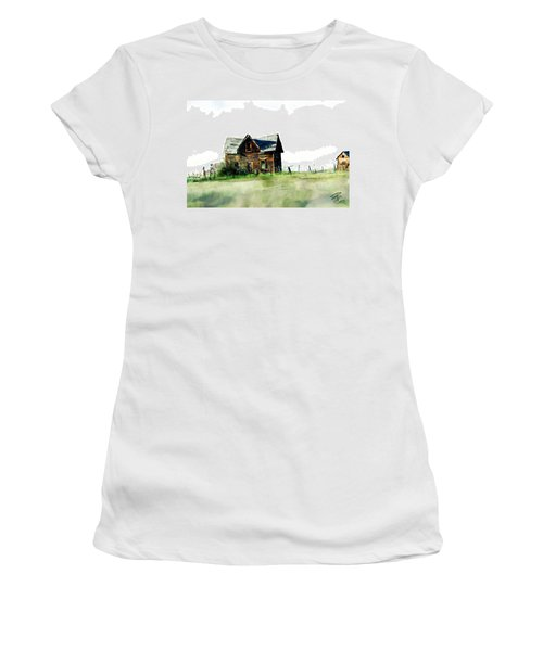 Old Sagging House Women's T-Shirt (Athletic Fit)