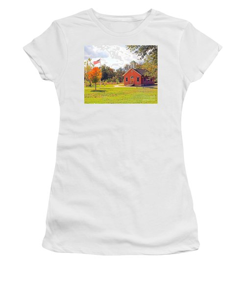 Old Schoolhouse-wildwood Park Women's T-Shirt (Athletic Fit)