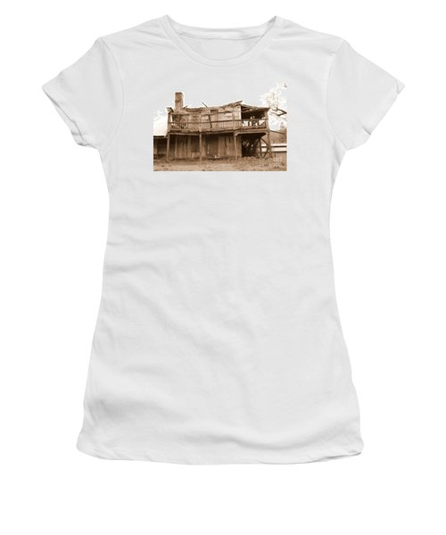 Old Stagecoach Stop Women's T-Shirt (Junior Cut) by Marie Neder