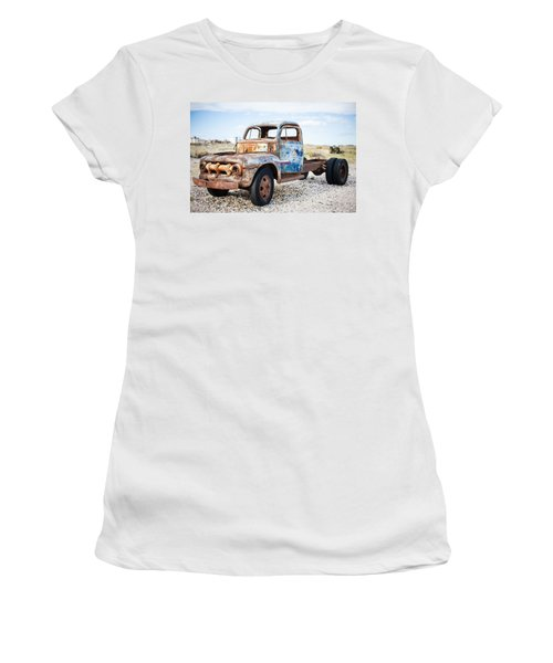 Old Truck Women's T-Shirt (Junior Cut) by Silvia Bruno