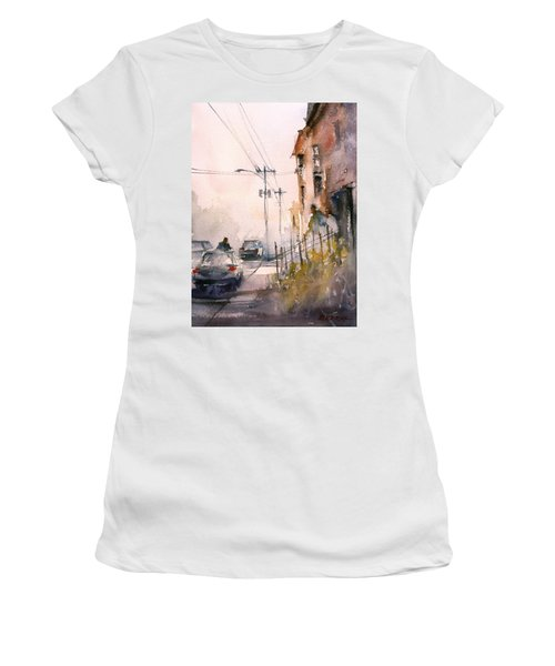 Old Wautoma Hotel Women's T-Shirt (Athletic Fit)