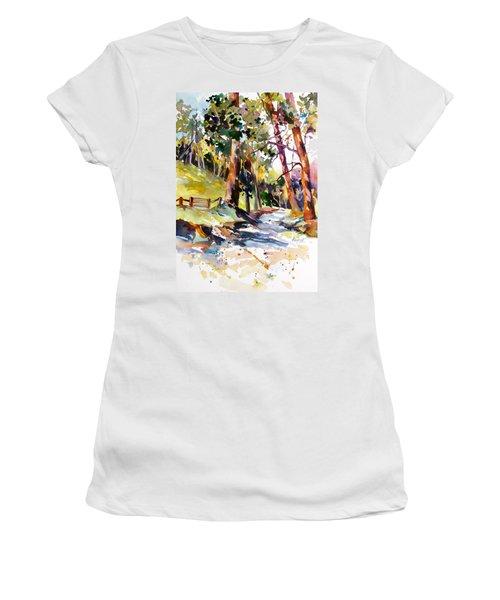 Olinda Trees Maui 2 Women's T-Shirt (Junior Cut) by Rae Andrews