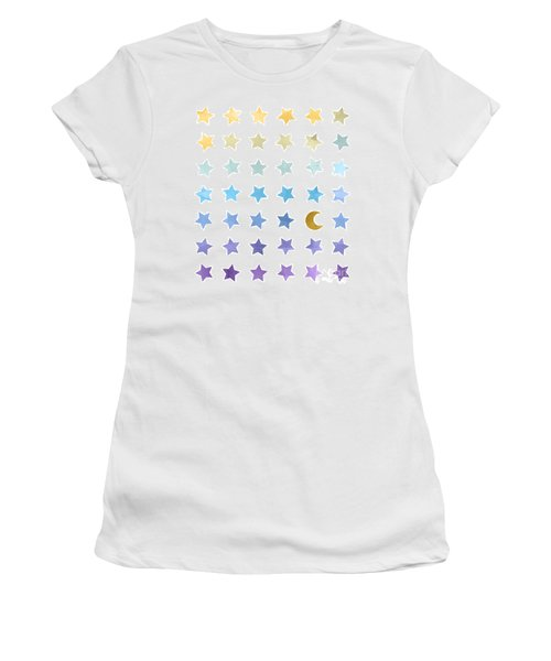 Ombre Cosmos Women's T-Shirt (Junior Cut) by Whitney Morton