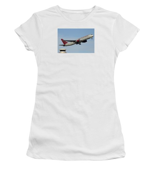 Omni Air International Boeing 767-319 N396ax Phoenix Sky Harbor January 2 2015 Women's T-Shirt (Athletic Fit)