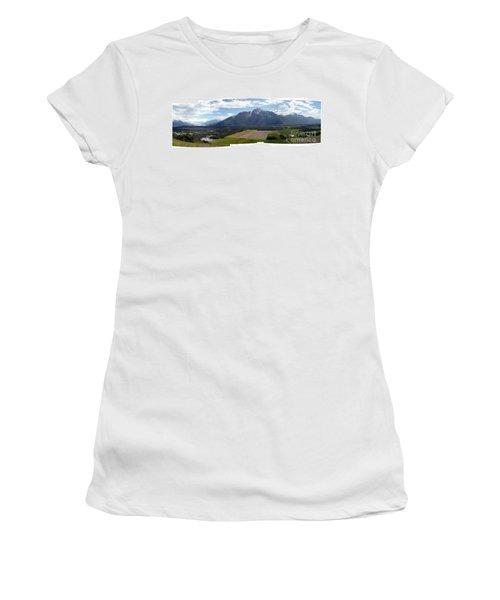 On A Butteiful Day Women's T-Shirt (Junior Cut) by Ron Bissett
