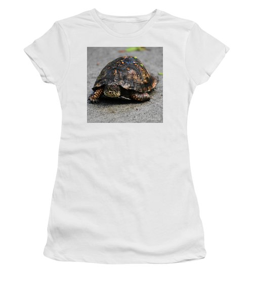 Women's T-Shirt (Junior Cut) featuring the photograph On A Mission by Skip Willits