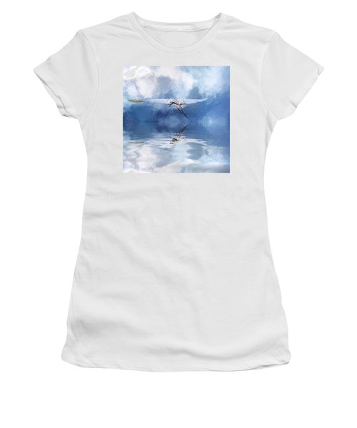 On A Wing And A Prayer Women's T-Shirt (Junior Cut) by Cyndy Doty