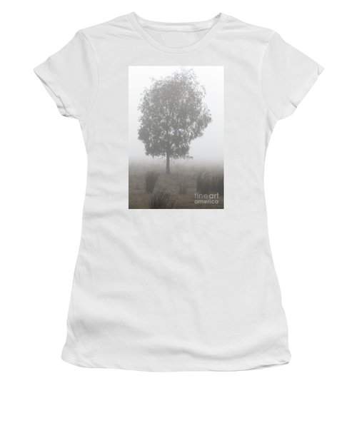 Women's T-Shirt (Athletic Fit) featuring the photograph On A Winter's Morning by Linda Lees