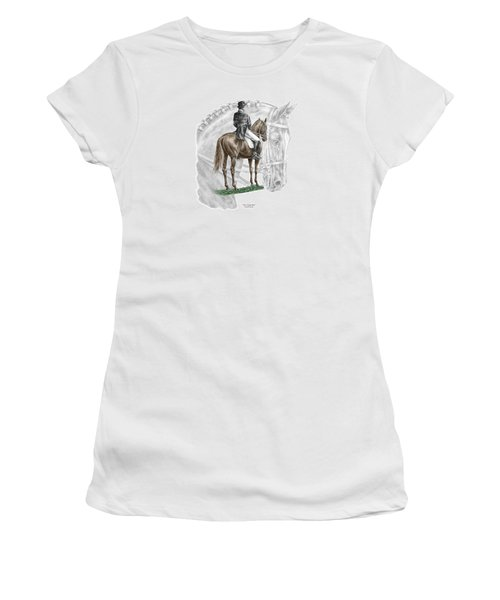 On Centerline - Dressage Horse Print Color Tinted Women's T-Shirt (Athletic Fit)