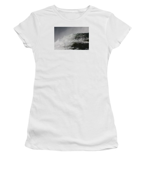 Women's T-Shirt (Junior Cut) featuring the photograph On Edge by Vadim Levin