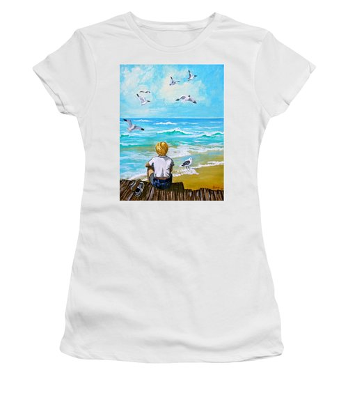 On The Boardwalk Women's T-Shirt (Athletic Fit)