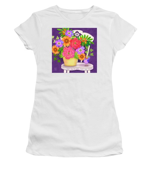 On The Bright Side - Flowers Of Faith Women's T-Shirt