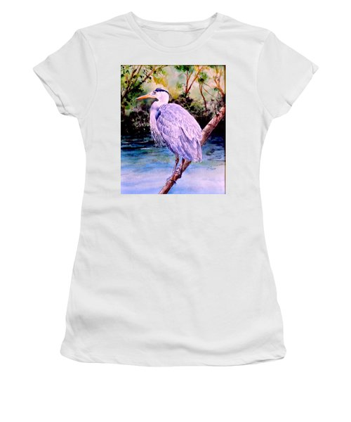 Women's T-Shirt (Junior Cut) featuring the painting On The Lookout by Sher Nasser