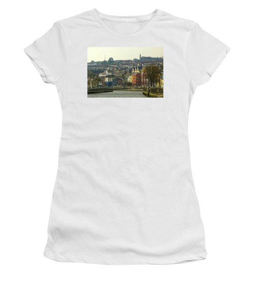 Women's T-Shirt (Junior Cut) featuring the photograph On The River Lee, Cork Ireland by Marie Leslie