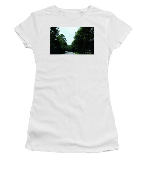 Women's T-Shirt (Athletic Fit) featuring the photograph On The Road by Andrea Anderegg