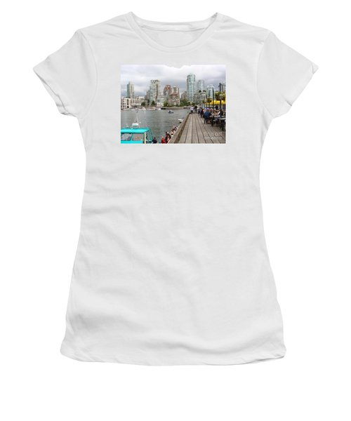 On The Water At False Creek Vancouver Women's T-Shirt (Junior Cut) by Rod Jellison