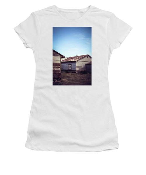 Women's T-Shirt (Junior Cut) featuring the photograph Once Industrial - Series 2 by Trish Mistric
