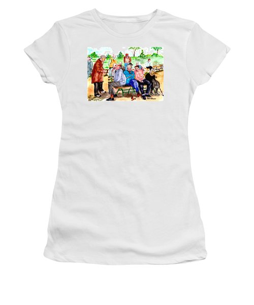 Once Upon A Park Bench Women's T-Shirt