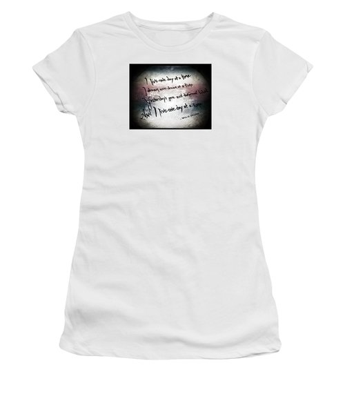 Women's T-Shirt (Junior Cut) featuring the photograph One Day.... by Trish Mistric