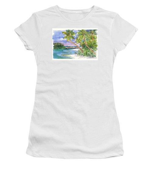 One-foot-island, Aitutaki Women's T-Shirt