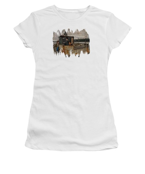 Women's T-Shirt featuring the photograph One Salty Dog by Thom Zehrfeld