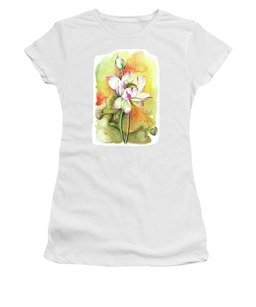 Women's T-Shirt (Junior Cut) featuring the painting One Sunny Day by Anna Ewa Miarczynska